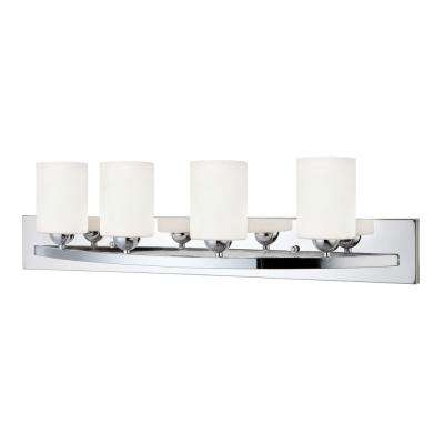 Hampton 4-Light Chrome Bath Light