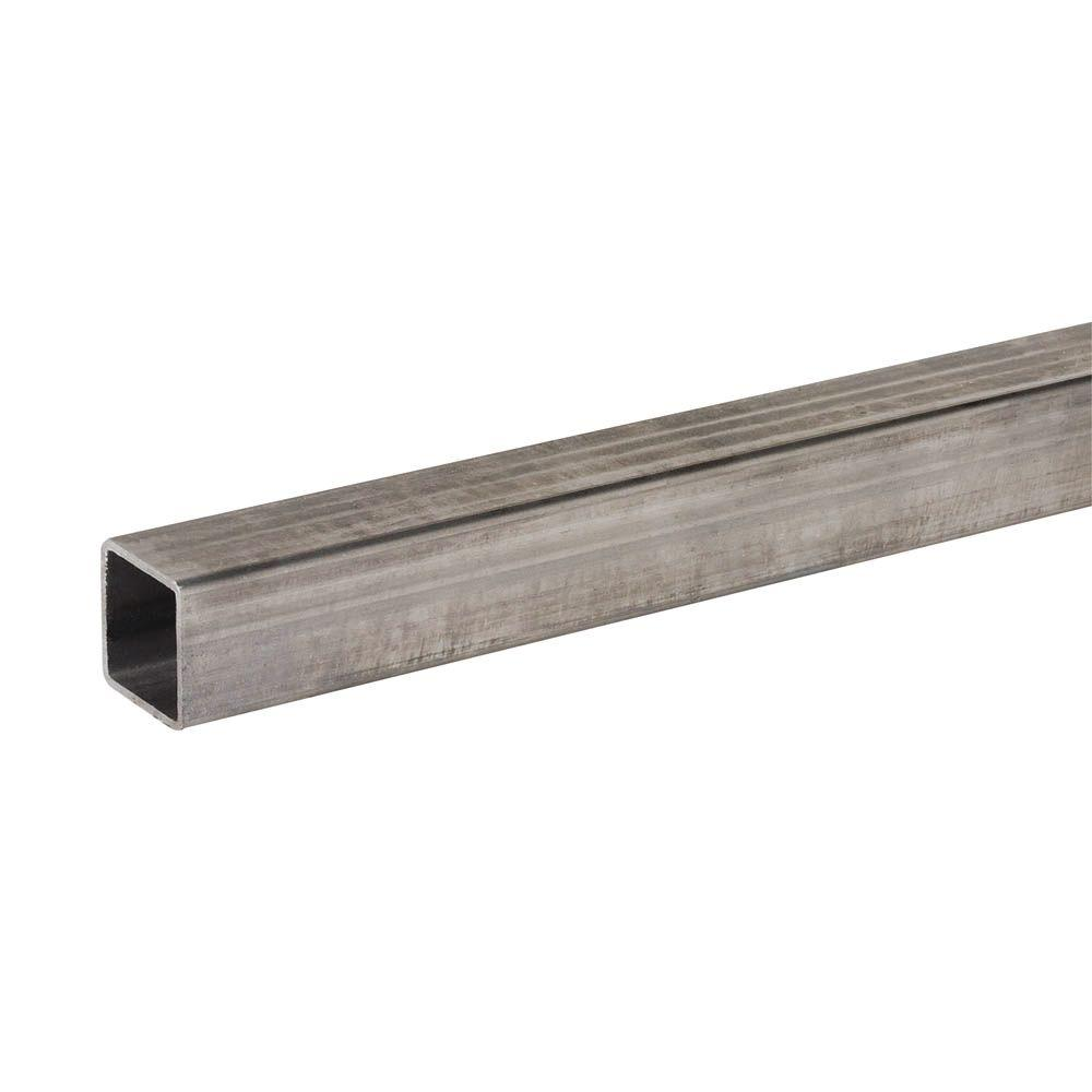 Everbilt 3/4 in. x 36 in. Plain Steel Square Tube with 1/16 in. Thick