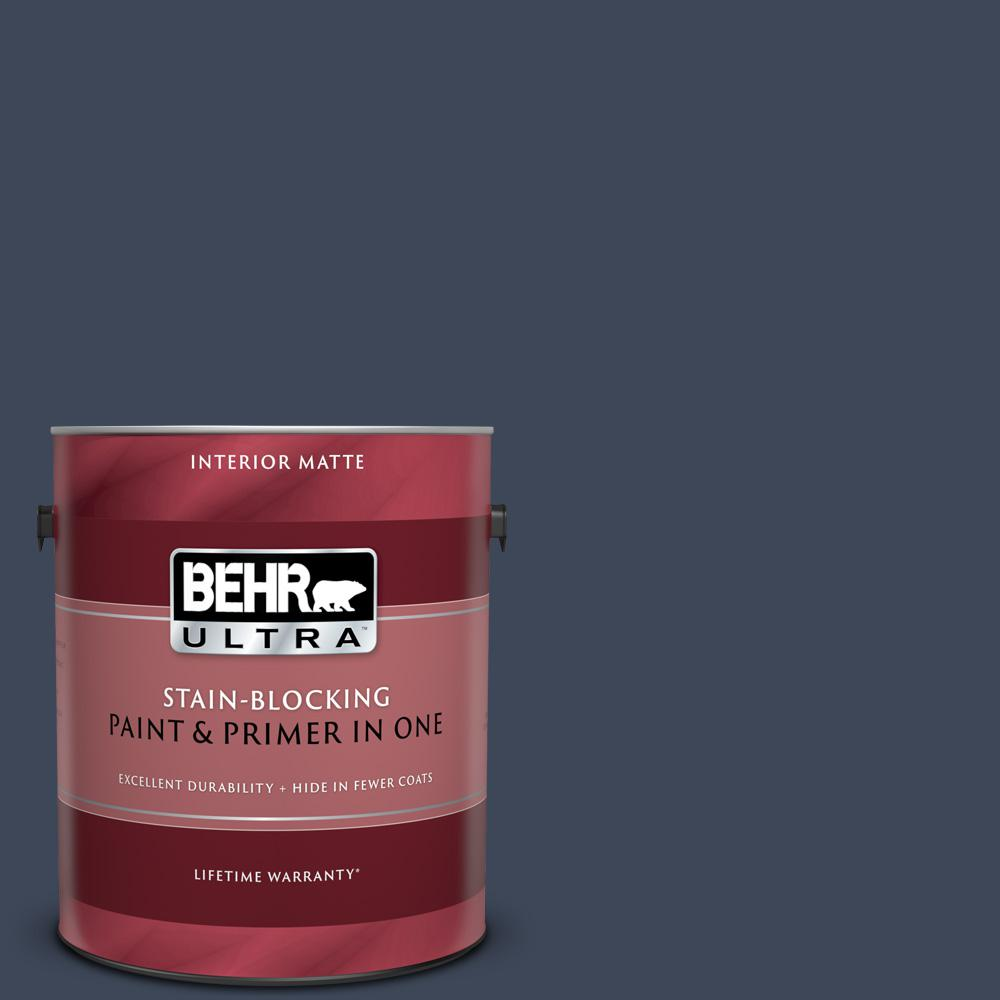 Behr Ultra 1 Gal M500 7 Very Navy Matte Interior Paint