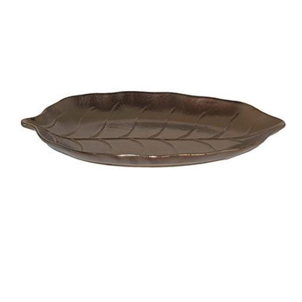 Home Decorators Collection Foglia Bronze Ceramic Small Plate