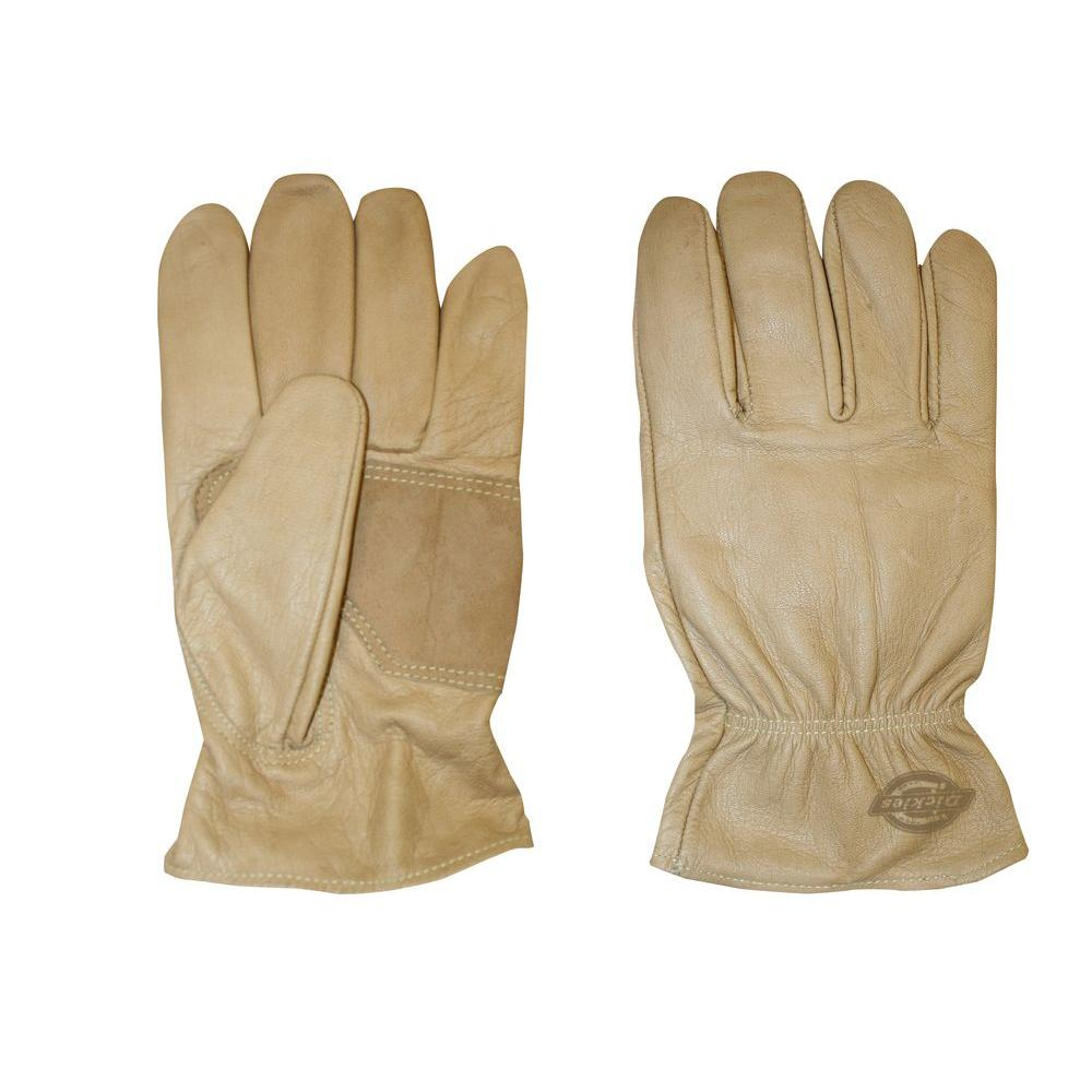 Dickies Medium Saddle-Colored Patch Palm Grain Goat Driver Glove