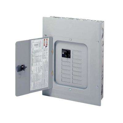 BR 100 Amp 12 Space 20 Circuit Indoor Main Breaker Loadcenter with Combination Cover