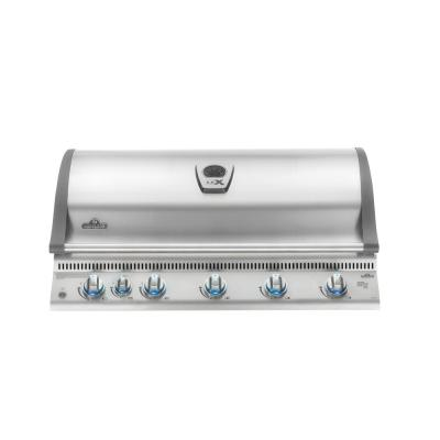 Built-in LEX 730 with Infrared Bottom and Rear Burners Propane Gas Grill in Stainless Steel