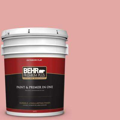 5 gal. #MQ4-3 Coral Fountain Flat Exterior Paint and Primer in One