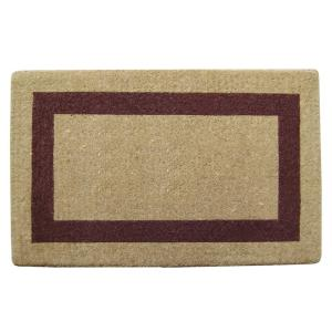 Nedia Home Single Picture Frame Brown 38 inch x 60 inch Heavy Duty Coir Plain Door Mat by Nedia Home