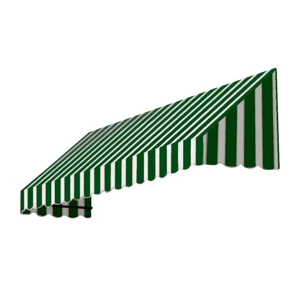 AWNTECH 30 ft. San Francisco Window/Entry Awning (44 in. H x 48 in. D) in Forest/White Stripe