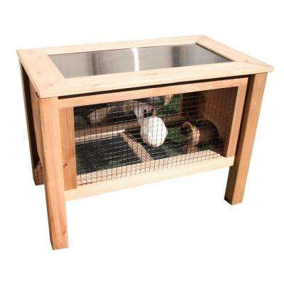 24 in. x 45 in. x 32 in. Rabbit Hutch