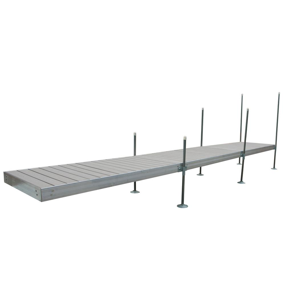 Tommy Docks 24 ft. Long Straight Aluminum Frame with Decking ...