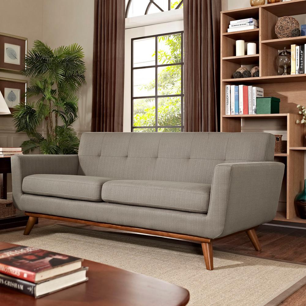 Engage Granite Upholstered Fabric Loveseat