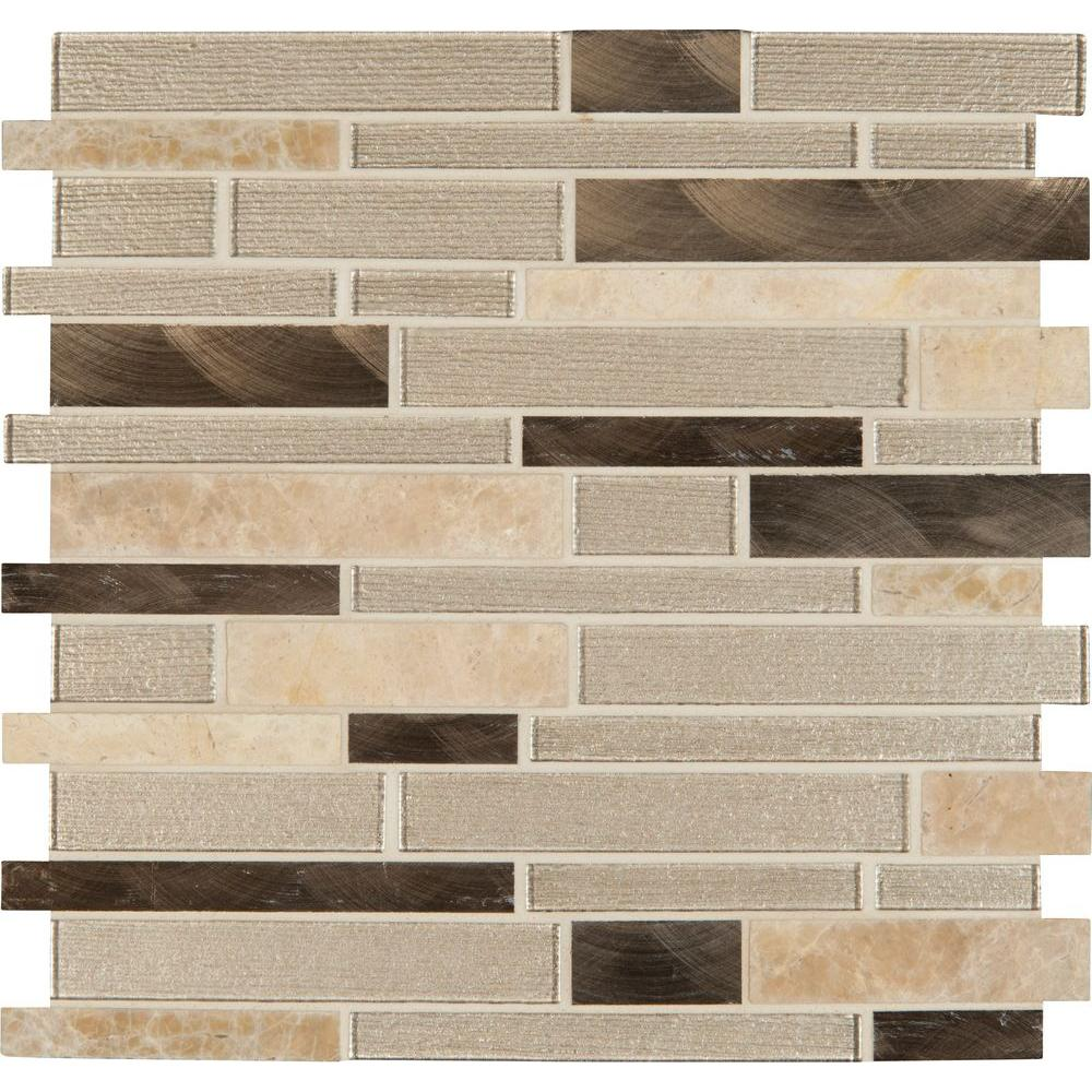 Msi Delano Blanco 12 In X 6 Mm Gl Stone Mesh Mounted Mosaic Tile Sgls Delbla6mm The Home Depot