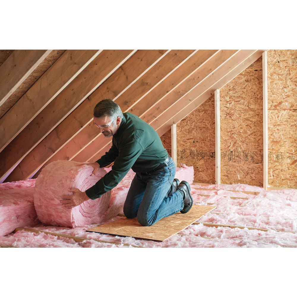 Owens Corning R 30 Ecotouch Pink Unfaced Fiberglass Insulation Roll 15 In X 25 Ft Ru70 The Home Depot