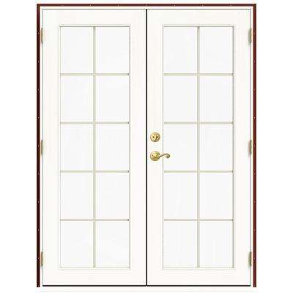 59.5 in. x 79.5 in. W-2500 Mesa Red Left-Hand Inswing French Wood Patio Door