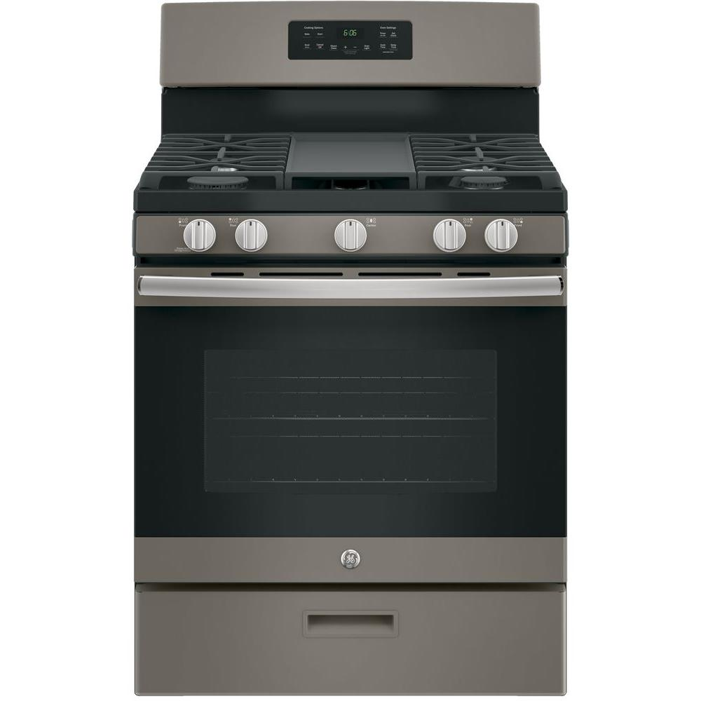 30 gas range viking ge 30 in 50 cu ft freestanding gas range in slate fingerprint resistantjgbs66eekes the home depot