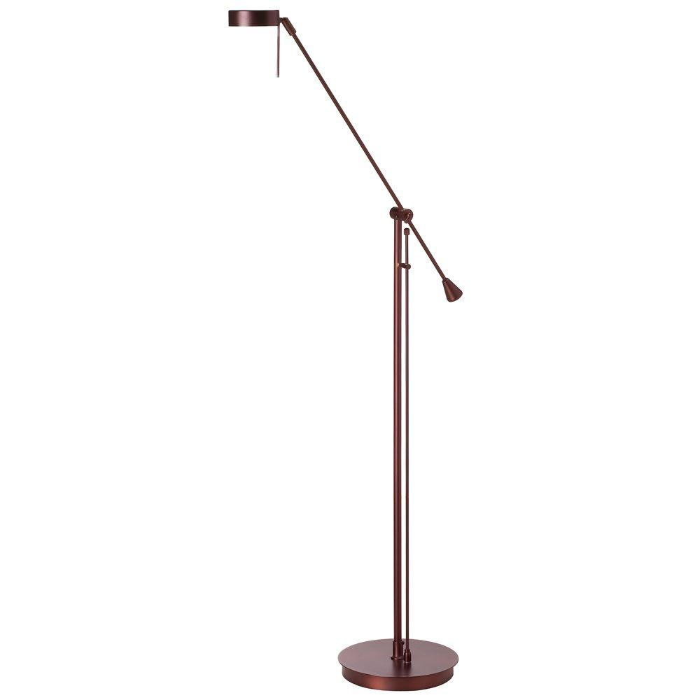 Filament design catherine 1 light halogen oil brushed for Floor lamp brushed bronze