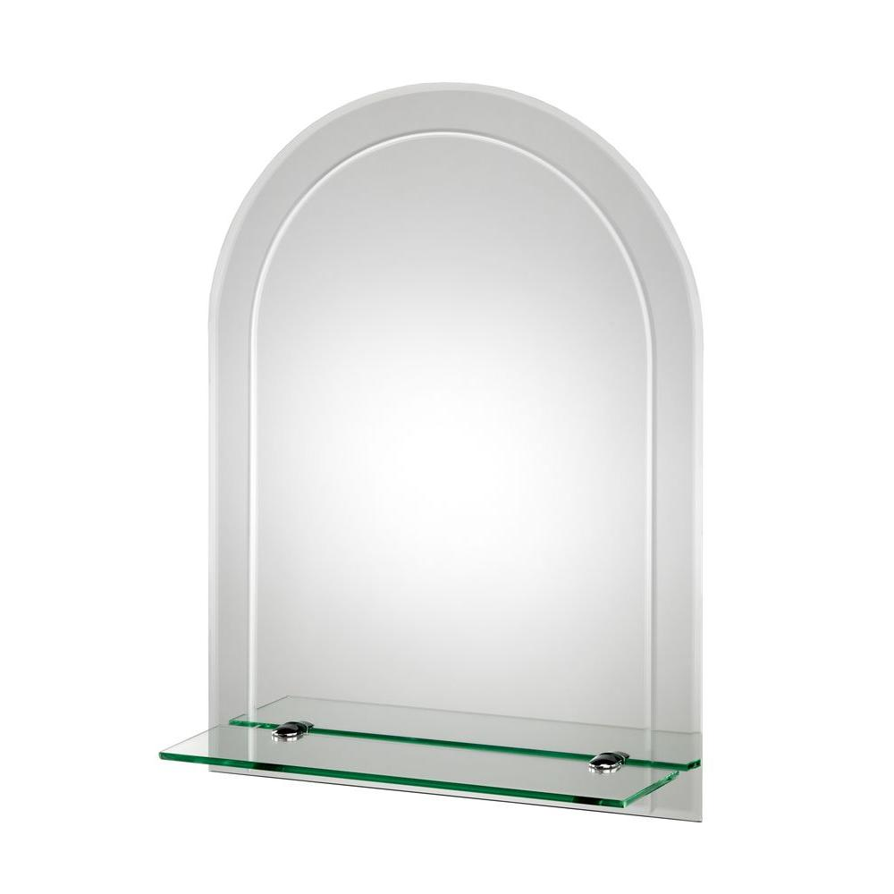 beveled glass mirrors bathroom croydex 18 in x 24 in fairfield beveled edge arch wall 17355