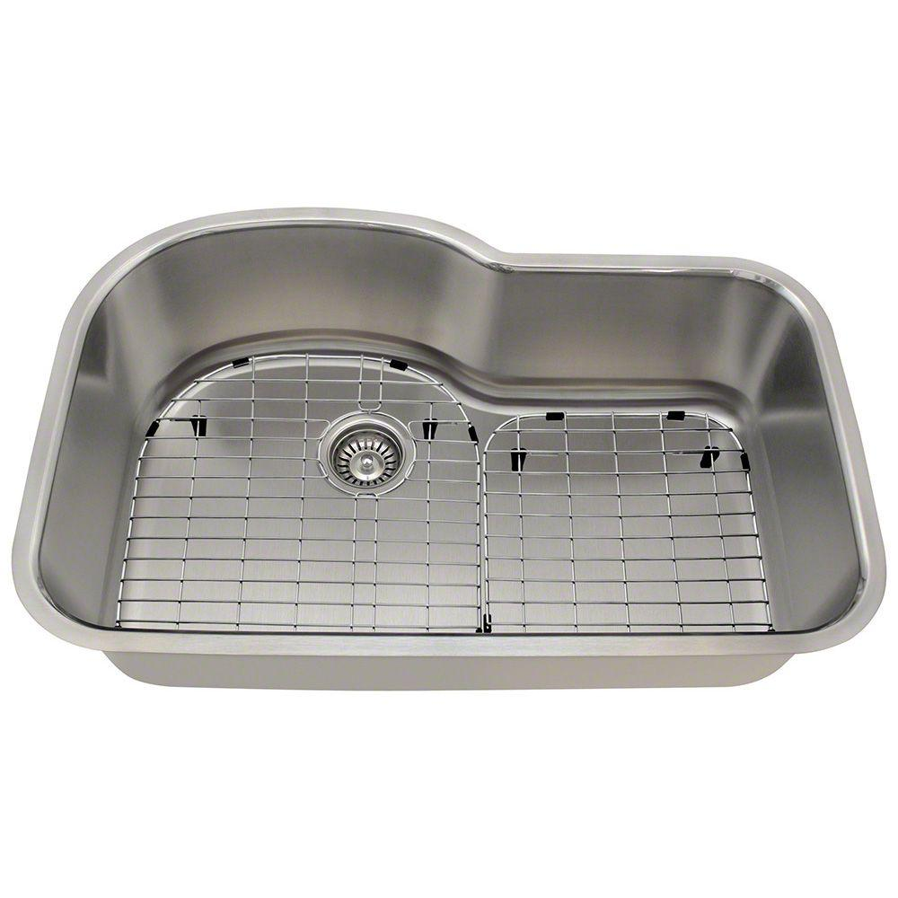 All-in-One Undermount Stainless Steel 31 in. Single Bowl Kitchen Sink