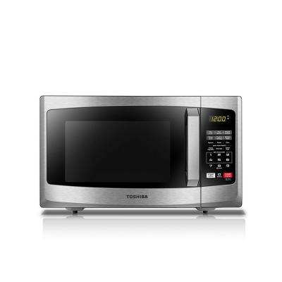 0.9 cu. ft Countertop Small Microwave in Stainless Steel