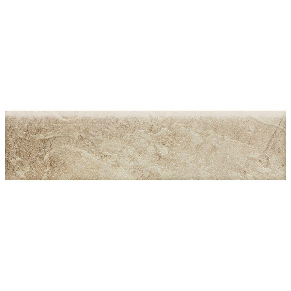 Daltile Continental Slate Egyptian Beige 3 in. x 12 in. Porcelain Bullnose Floor and Wall Tile (0.25702 sq. ft. / piece)
