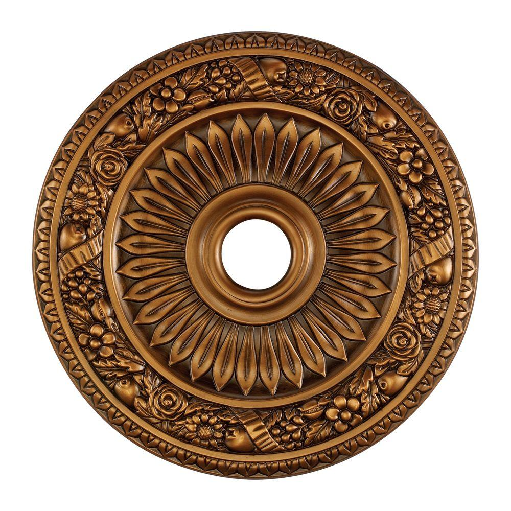 An Lighting Fl Wreath 24 In Antique Bronze Ceiling Medallion