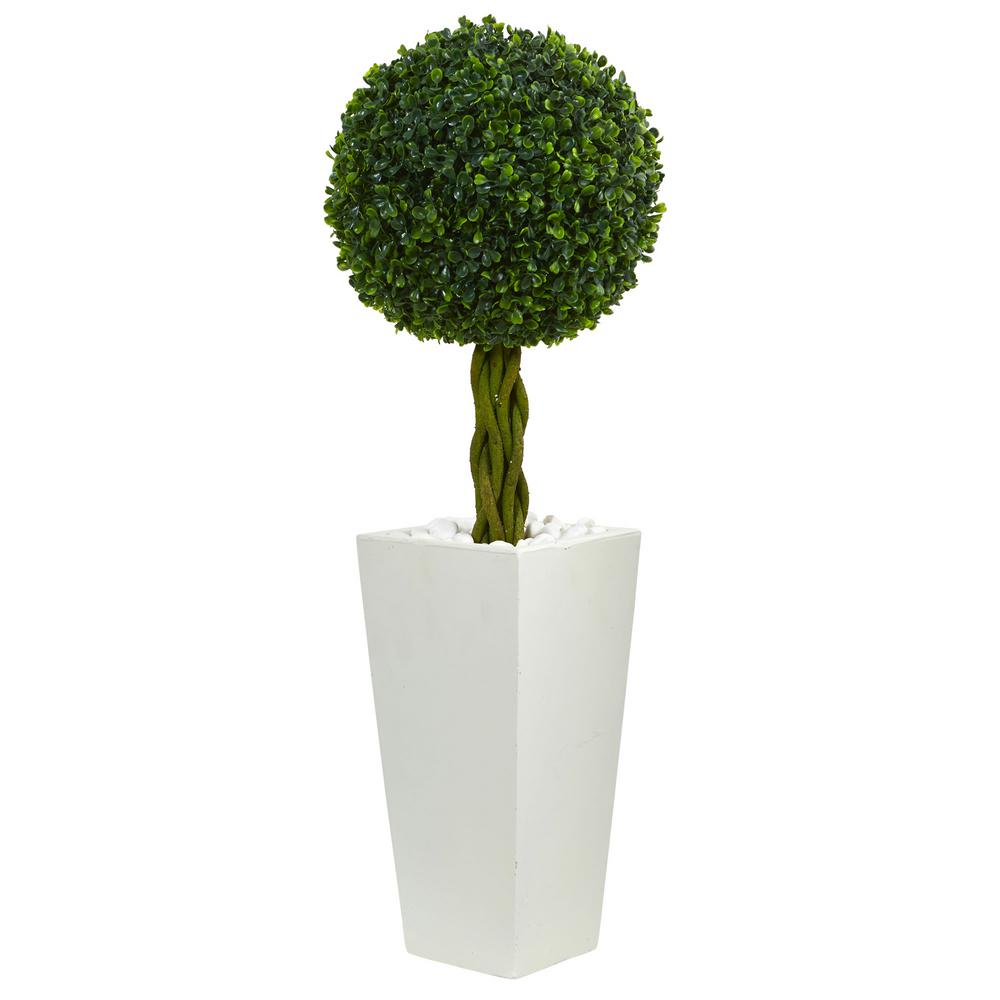 nearly natural 2 5 ft uv resistant indoor outdoor boxwood. Black Bedroom Furniture Sets. Home Design Ideas