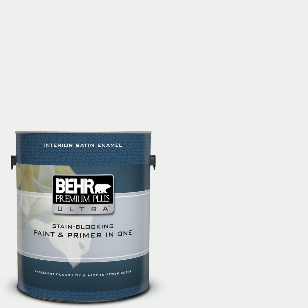Behr Premium Plus Ultra 1 Gal 57 Frost Satin Enamel Interior Paint And Primer In One