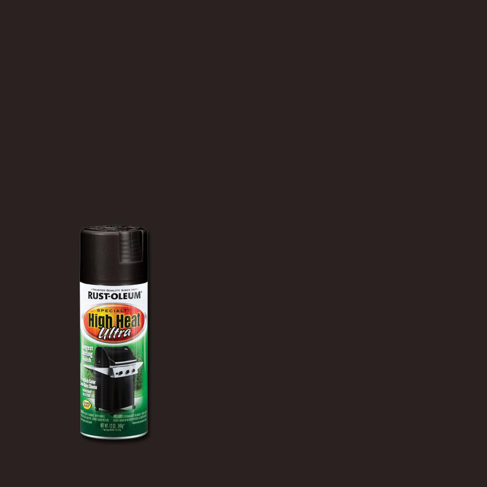 Rust Oleum Specialty 12 Oz High Heat Ultra Semi Gloss Black Spray Paint
