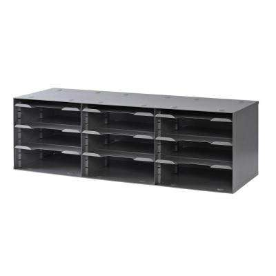 12-Compartment Adjustable Shelf Sorting Rack