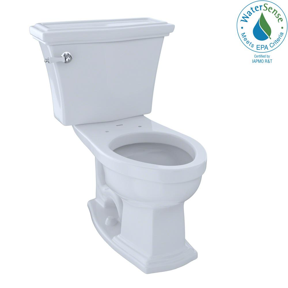 Eco Clayton 2-Piece 1.28 GPF Single Flush Elongated Toilet in Cotton