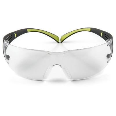 1d5e3b5ebea9 SecureFit 400 Black Neon Green with Clear Anti-Fog Lenses Safety Glasses  (Case