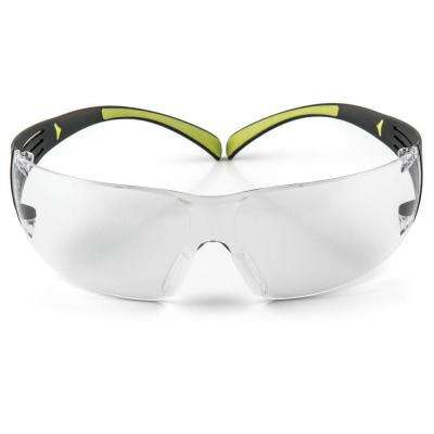 SecureFit 400 Black/Neon Green with Clear Anti-Fog Lenses Safety Glasses (Case of 6)