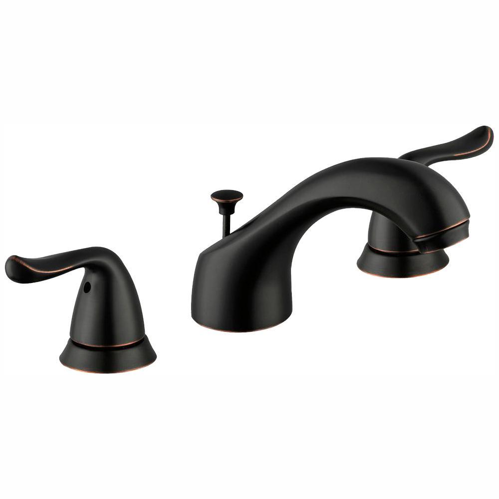 Constructor 8 in. Widespread 2-Handle Bathroom Faucet in Bronze