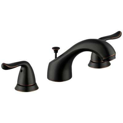 Constructor 8 in. Widespread 2-Handle Bathroom Faucet in Bronze