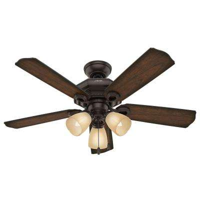 Haddington 46 in. Indoor Onyx Bengal Bronze Ceiling Fan with Light