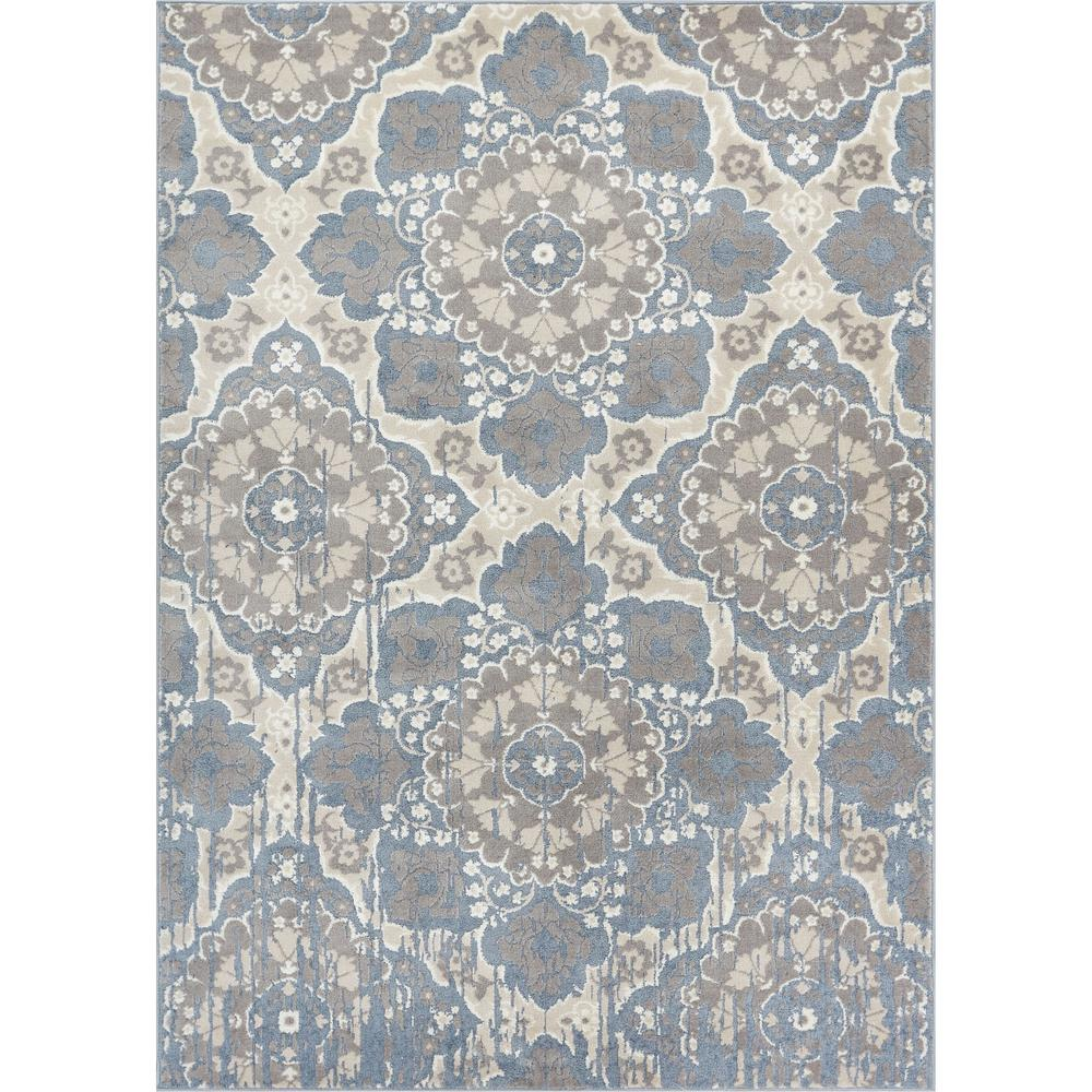 Well Woven Pearl Melody Blue 8 Ft X 10 Ft Modern Tile Work