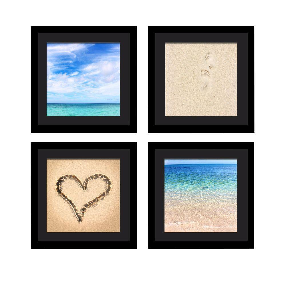 "Four 10 in. x 10 in. ""Beach Beauty"" by Neeva Kedem Framed Printed Wall Art"