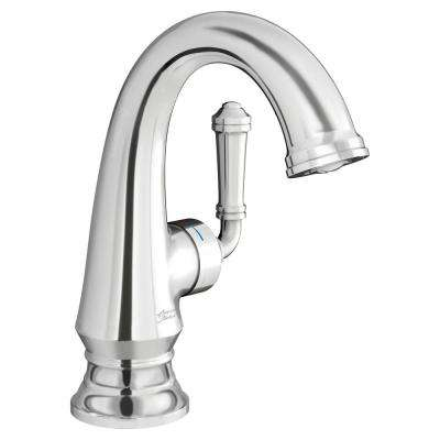 Delancey Single Hole Single-Handle Bathroom Faucet with Red/Blue Indicators and Side Handle in Polished Chrome