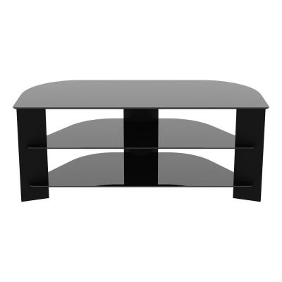AVF Reflections 43 in. Black Engineered Wood Corner TV Stand Fits TVs Up to 55 in. with Cable Management