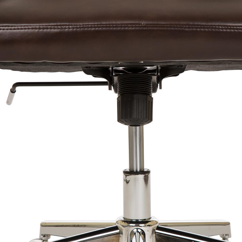 Superb Glitzhome Mid Century Modern Coffee Bonded Leather Gaslift Unemploymentrelief Wooden Chair Designs For Living Room Unemploymentrelieforg