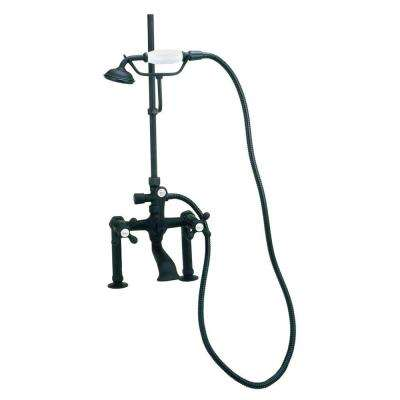 RM24 3-Handle Claw Foot Tub Faucet with Handshower in Oil Rubbed Bronze