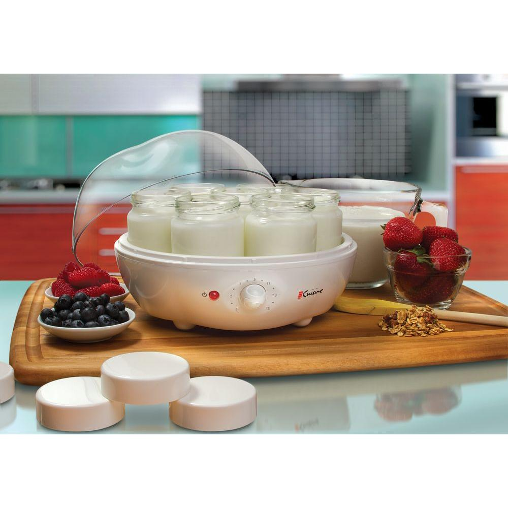 Euro cuisine qt 7 jar yogurt maker ym100 the home for Cuisine yourte