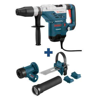 13 Amp 1-5/8 in. SDS-Max Corded Rotary Hammer Drill with Handle, Case, Bonus SDS-Max, Spline Chiseling Dust Attachment