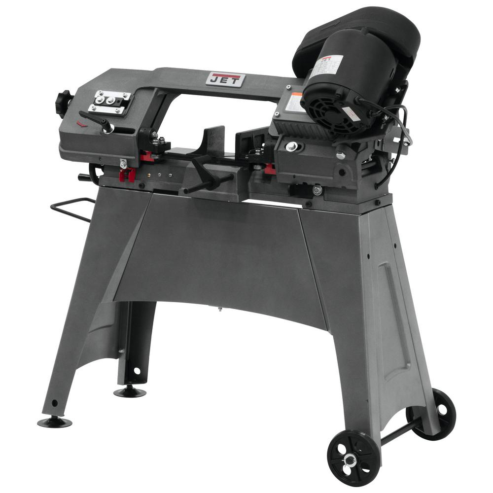 Jet 1/2 HP 5 in. x 6 in. Metalworking Horizontal and Vertical Band Saw with Open Stand, 3-Speed, 115/230-Volt, HVBS-56M was $687.88 now $539.0 (22.0% off)