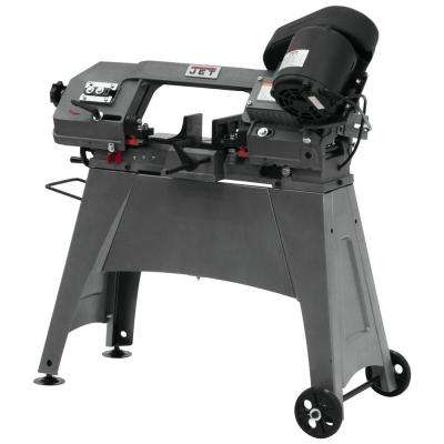 1/2 HP 5 in. x 6 in. Metalworking Horizontal and Vertical Band Saw with Open Stand, 3-Speed, 115/230-Volt, HVBS-56M
