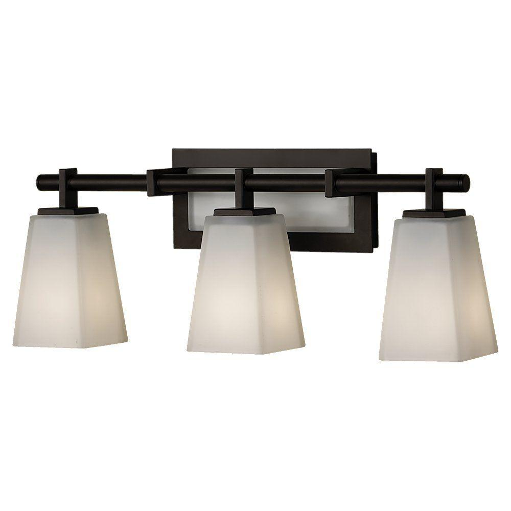 Lovely Feiss Clayton 3 Light Oil Rubbed Bronze Vanity Light Photo