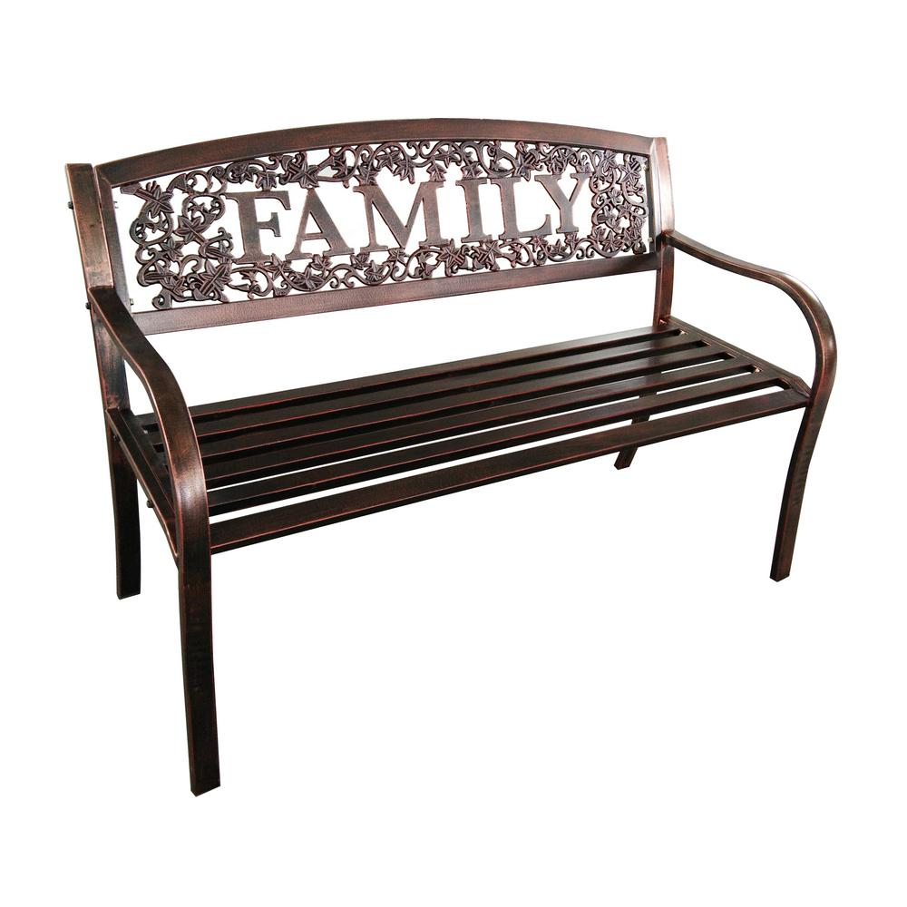 Leigh Country Family Metal Outdoor Patio Bench