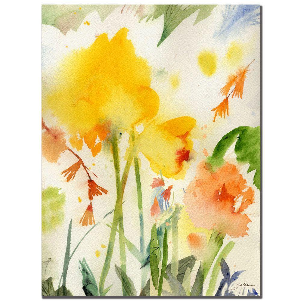 Trademark Fine Art 18 in. x 24 in. Garden Yellows Canvas Art