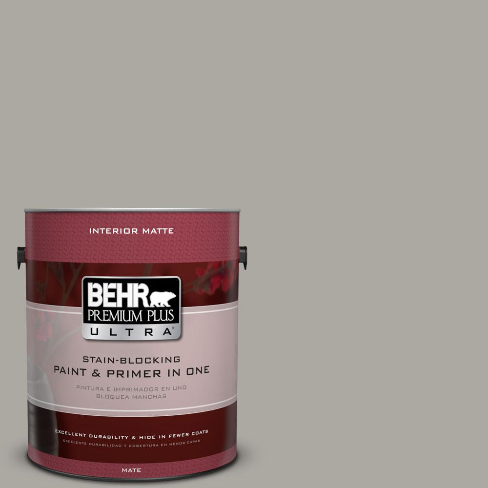 1 gal. #N360-3 Still Gray Matte Interior Paint