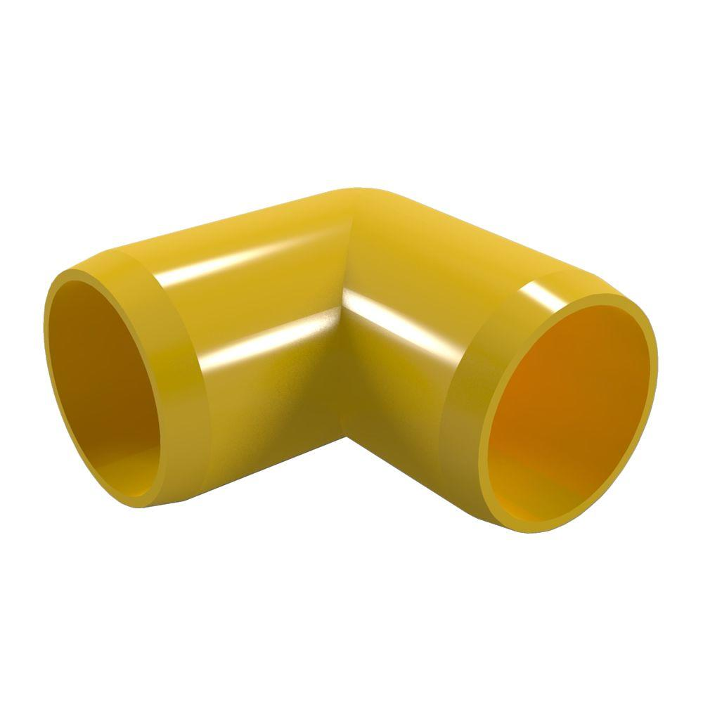 Formufit 1-1/4 in. Furniture Grade PVC 90-Degree Elbow in Yellow (4-Pack)