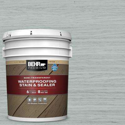 5 gal. #ST-365 Cape Cod Gray Semi-Transparent Waterproofing Exterior Wood Stain and Sealer