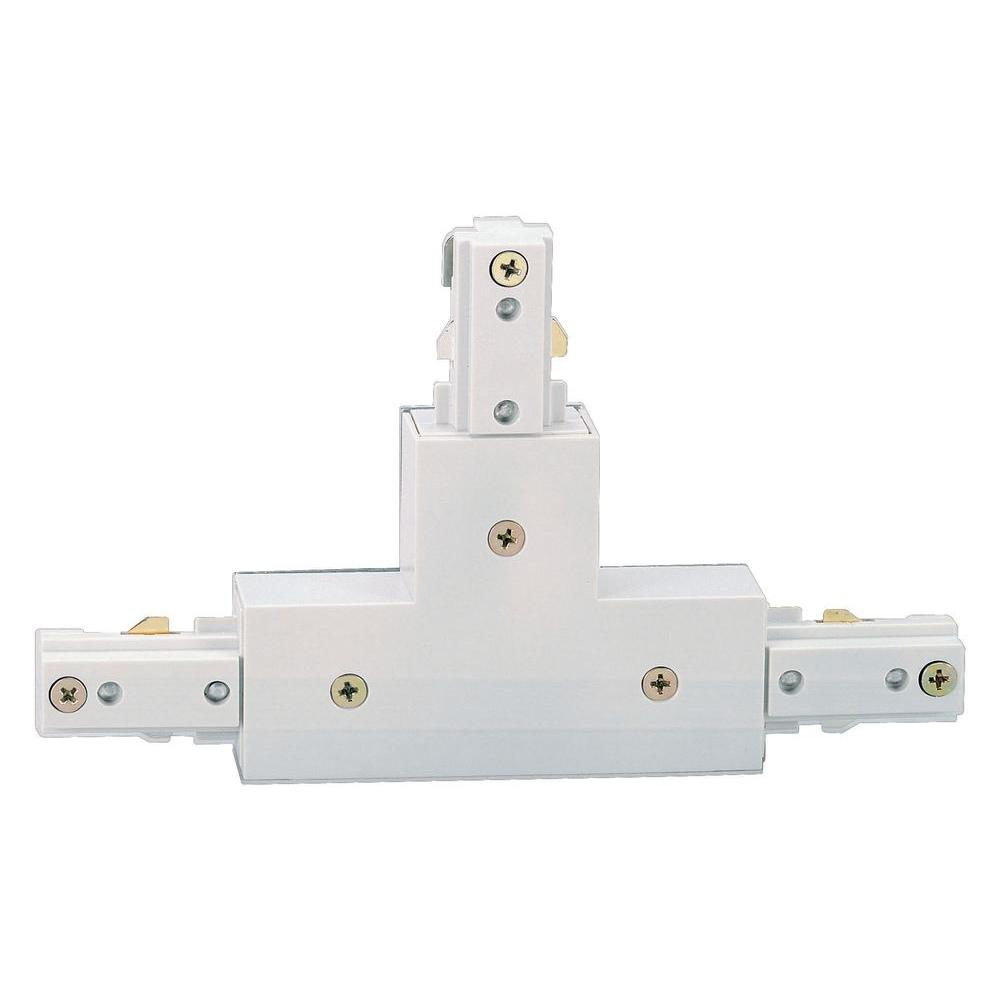 Beautiful Hampton Bay White T Connector For Linear Track Lighting EC701WH   The Home  Depot